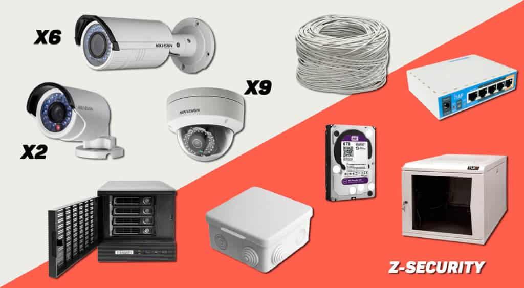 Видеонаблюдение купить комплект 4 наружных камеры